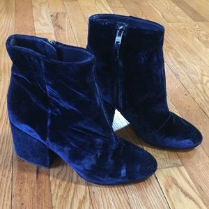 Sam Edleman Taye Ankle Booties - Blue Velvet